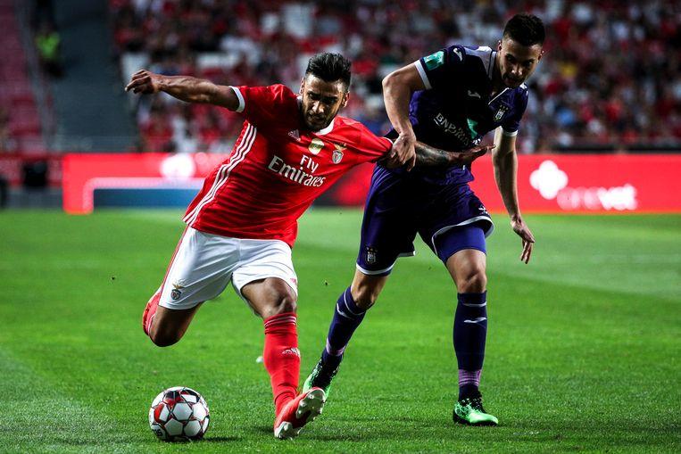 Salvio (links) in het duel tegen Anderlecht.