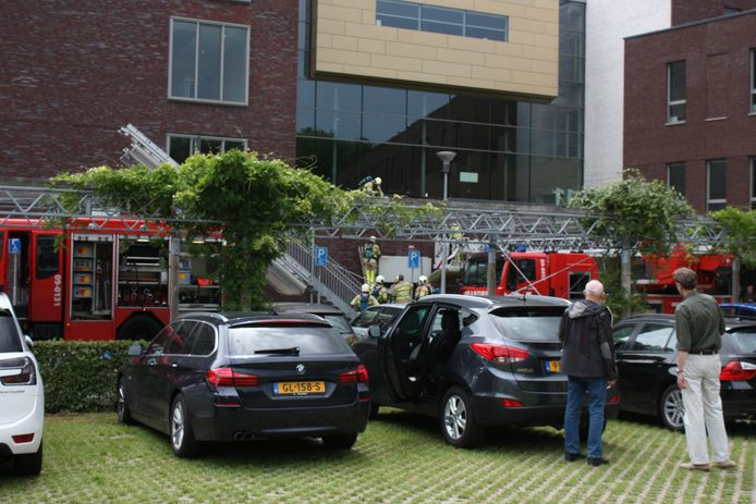 Brandweer aanwezig in Hoogland