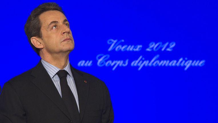 De Franse president Nicolas Sarkozy. Beeld ap