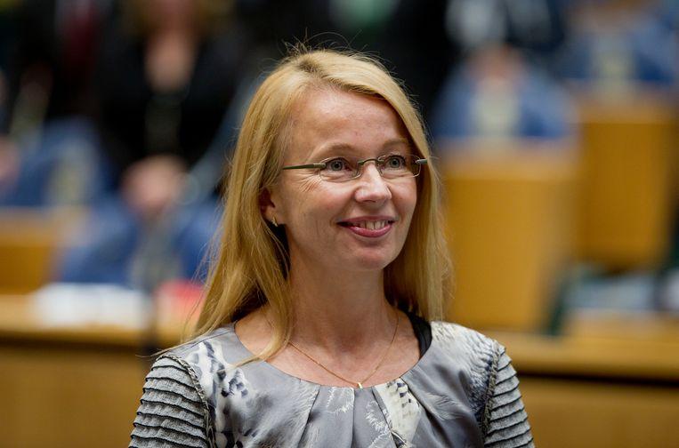 Ybeltje Berckmoes in de Tweede Kamer.  Beeld ANP