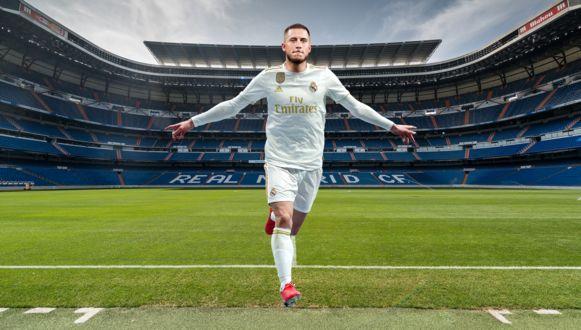 Eden Hazard in Bernabéu, zo ziet het er binnenkort uit.