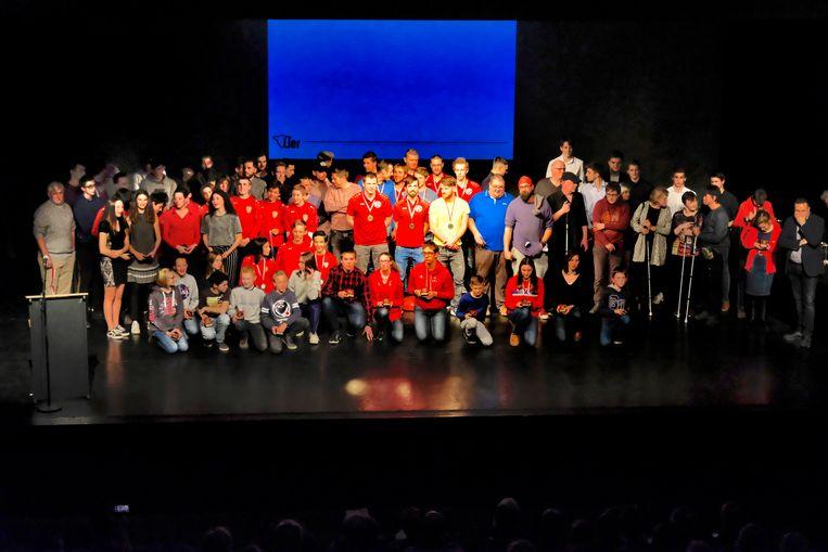 Ook tal van andere sporters werden gehuldigd tijdens de Nacht van de Sport in cultureel centrum De Mol.