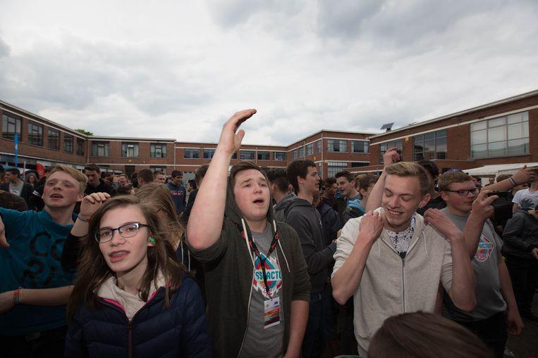 De leerlingen van THHI Tessenderlo in tijden van het festival Stressfactor