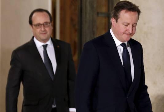 Hollande en Cameron waren maandagavond nog samen