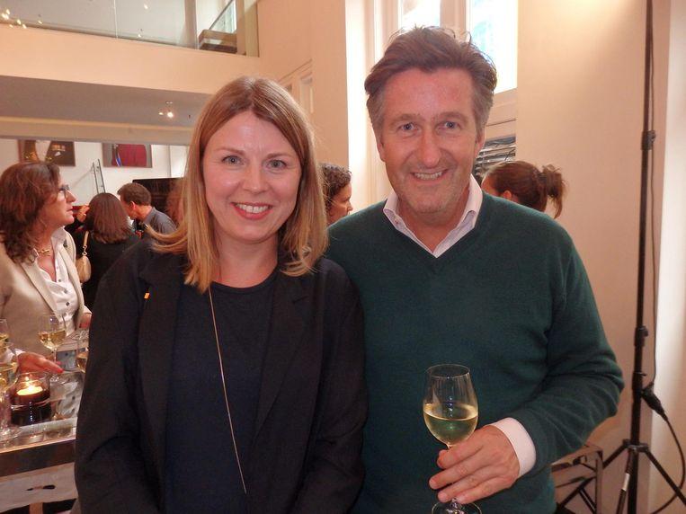 Marinka Reuten, grafisch ontwerper van het boek, en haar man Ronald Ockhuysen. Beeld Hans van der Beek