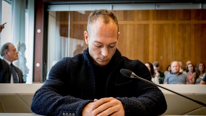 Yuri van Gelder tijdens het kort geding in de rechtbank in Arnhem.