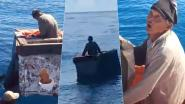 Hamade (62) dobbert zes dagen rond in koelbox na schipbreuk