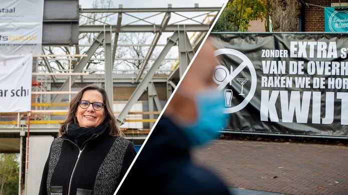 Museumdirectrice Saskia Bak van Museum Arnhem en de protestactie van de horeca in Wijchen.