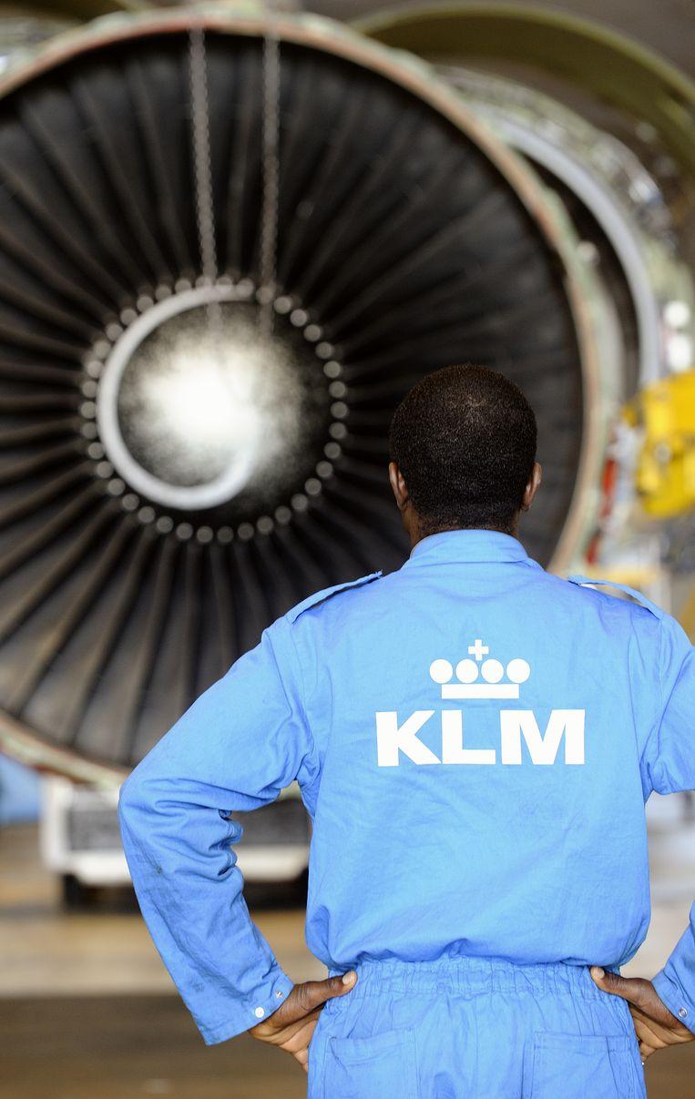 Ook voor het technisch personeel van KLM zit er tot eind 2017 geen loonsverhoging in Beeld anp