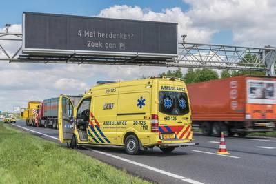 Ernstig ongeluk A16 met vier gewonden: Pool (39) klapte achterop Duitse tankwagen