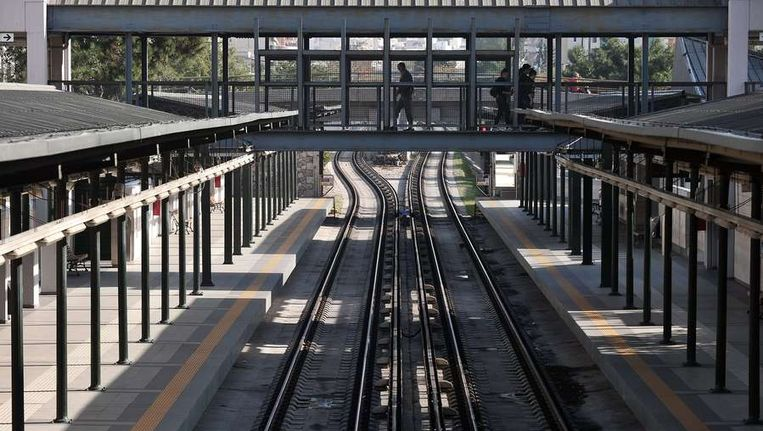 Lege stations in Griekenland Beeld afp
