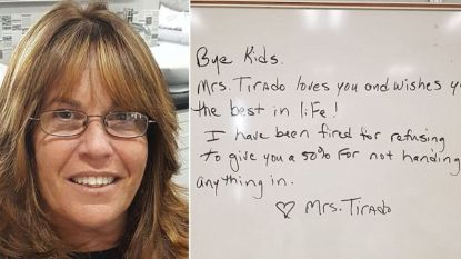 Lerares krijgt ontslag na weigering kinderen die hun opdrachten niet maakten toch een vijf te geven