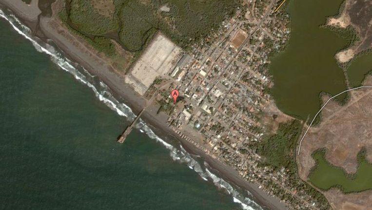 De haven van Champerico in Guatemala. © Google maps. Beeld
