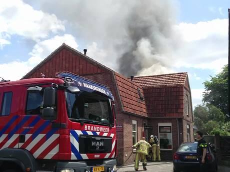 Veel rookontwikkeling bij woningbrand in Haaksbergen