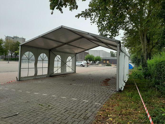 Coronateststraat op sportpark De Bongerd.