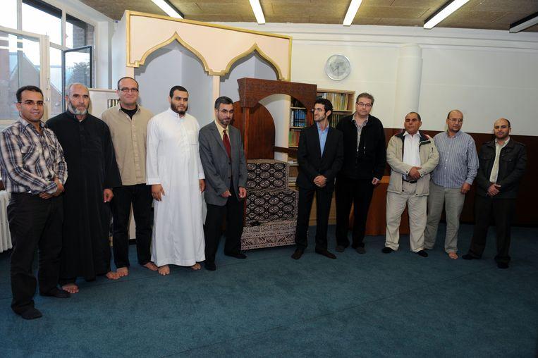 Deken Dirk De Gendt en Mohamed Ridouani kwamen een bezoekje brengen aan de Moskee in Leuven