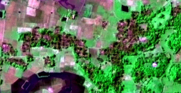 Het gebied op 18 november 2016 na de aanval. Beeld  Deimos Imaging S.L.U.