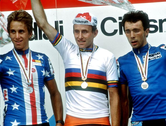 Joop Zoetemelk: in 1985 de laatste wereldkampioen op de weg uit Nederland.
