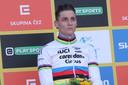 Mathieu van der Poel wint de wereldbeker-veldrit in Tabor.