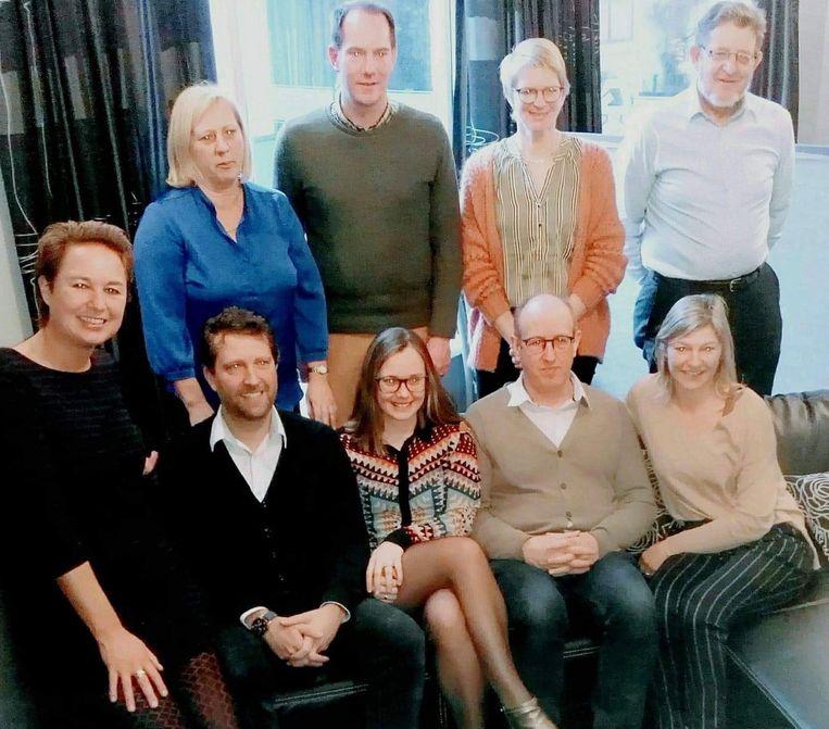 De nieuwe ploeg van CD&V Maldegem op de nieuwjaarsreceptie.