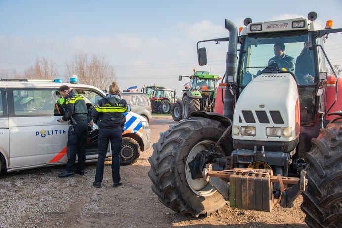 Boerenprotest bij Jumbo in Woerden
