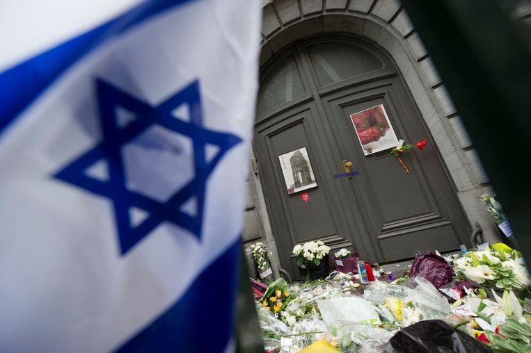 Het Joods Museum in Brussel, een dag na de aanslag in 2014.