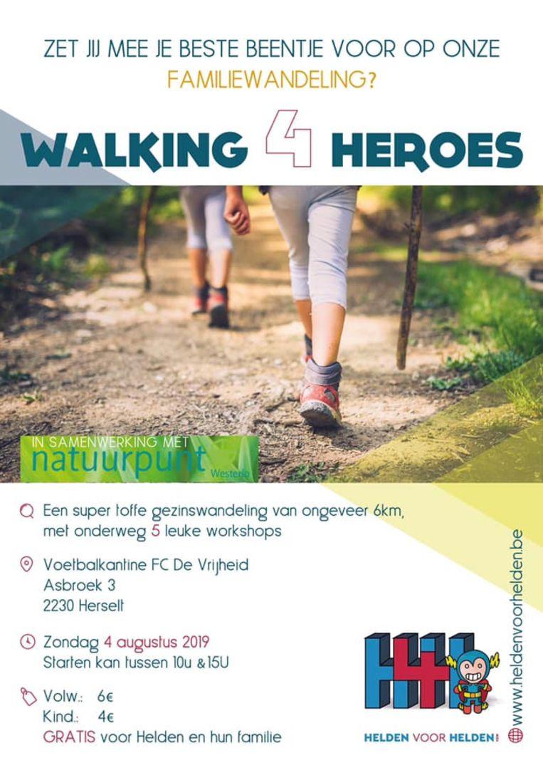 De affiche van Walking4Heroes.