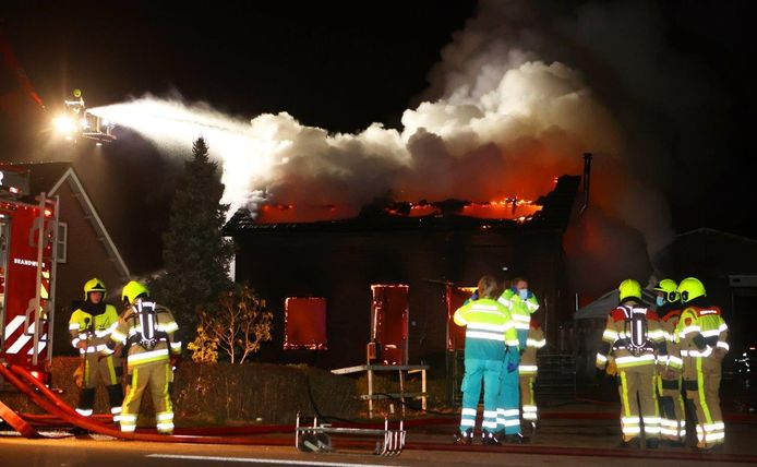 Brand in Hedel.