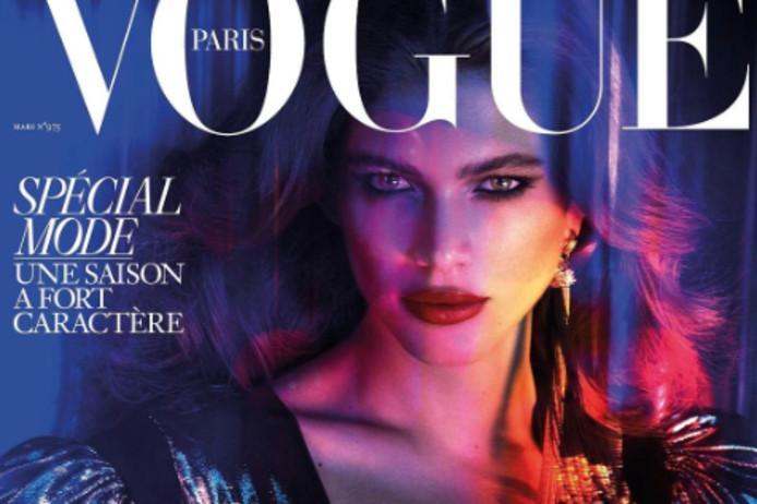 De cover van Vogue Paris, die in maart uitkomt.