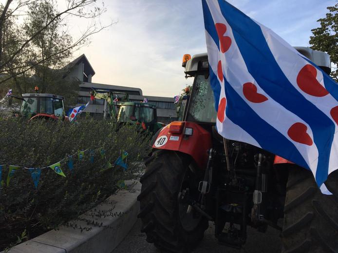 De Friese vlag op de trekkers