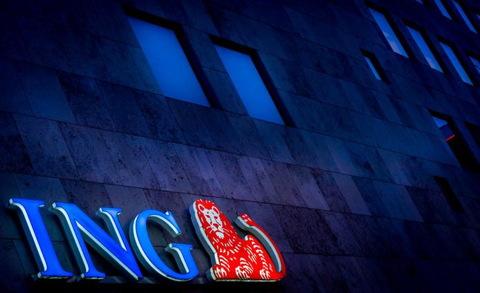 Exterieur van het hoofdkantoor van ING in Amsterdam.