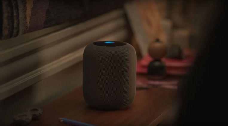 De Apple HomePod, een slimme speaker met Siri. Beeld