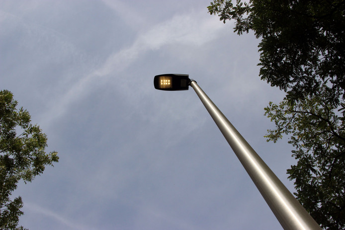Een lantaarnpaal met ledlampen (foto ter illustratie).