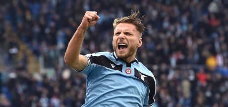 Lazio blijft dankzij briljante Immobile in spoor Juventus en Inter