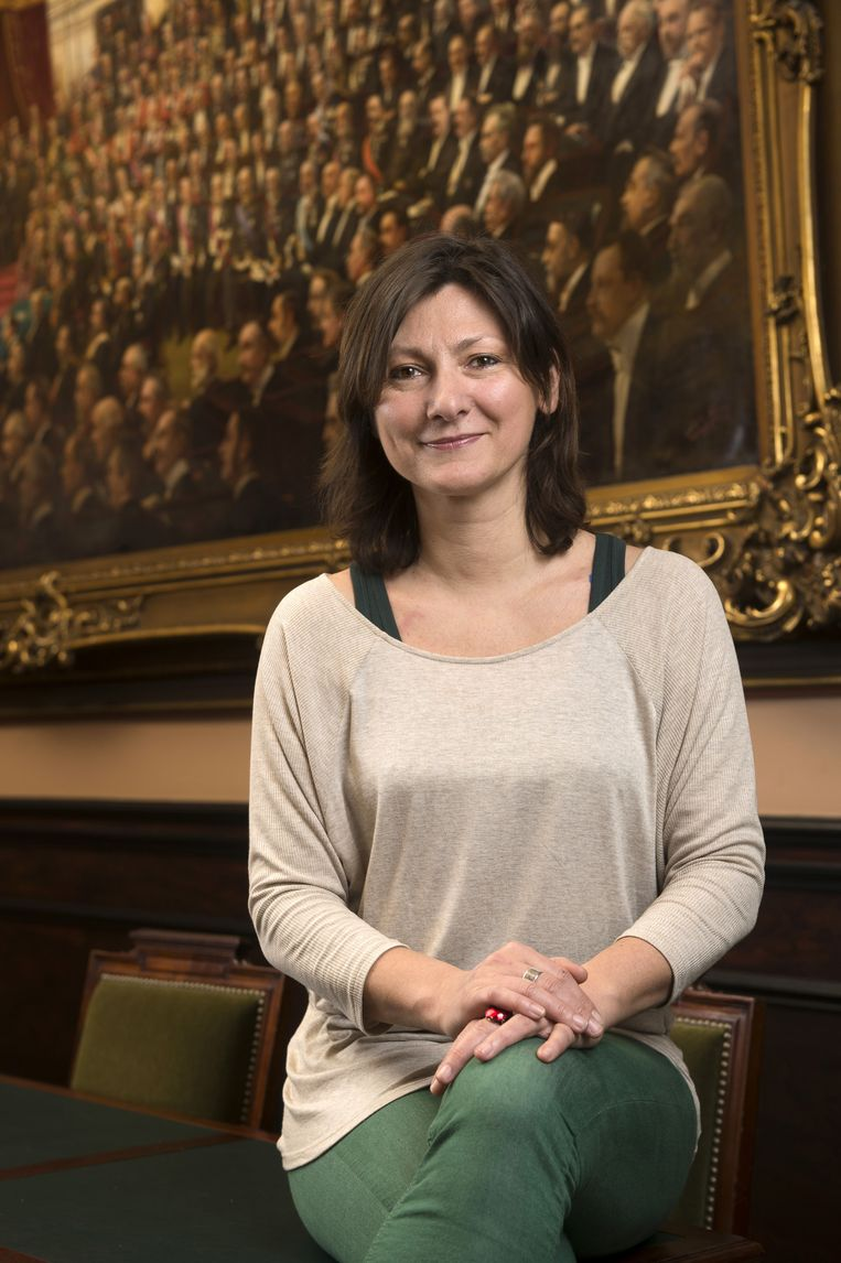 Maya Detiège is de voorzitter van het Beneluxparlement.