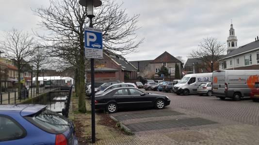 Parkeren in de binnenstad van Nijkerk.