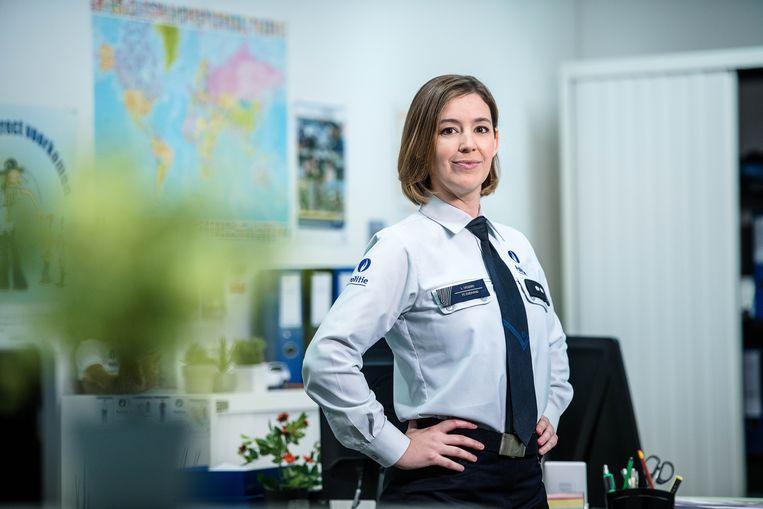 Charlotte De Groof speelt hoofdinspecteur Lotte Vissers.