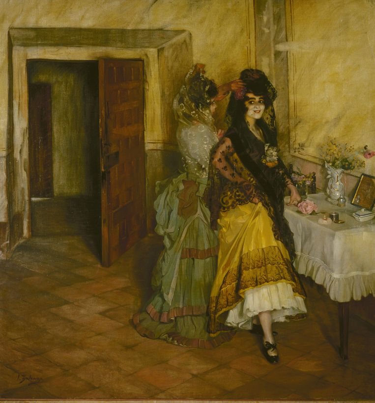 Ignacio Zuloaga: Toiletmaken voor het stierengevecht, 1903. Beeld © State Hermitage Museum, St Petersburg