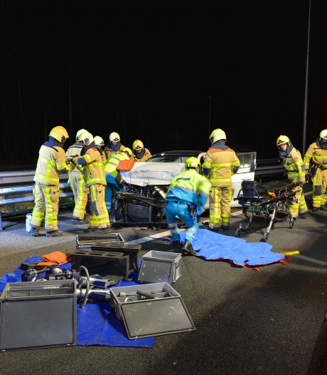 Vier gewonden bij ongeluk op A50 bij Beekbergen