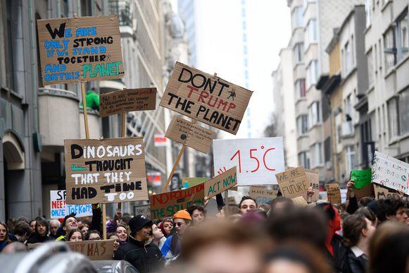 Illustratiebeeld: klimaatbetoging in Antwerpen in februari.