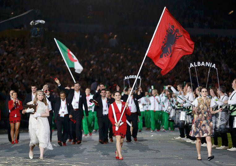 Tijdens de Spelen van Londen in 2012 mocht Romela Begaj nog de vlag van Albanië dragen tijdens de openingsceremonie.
