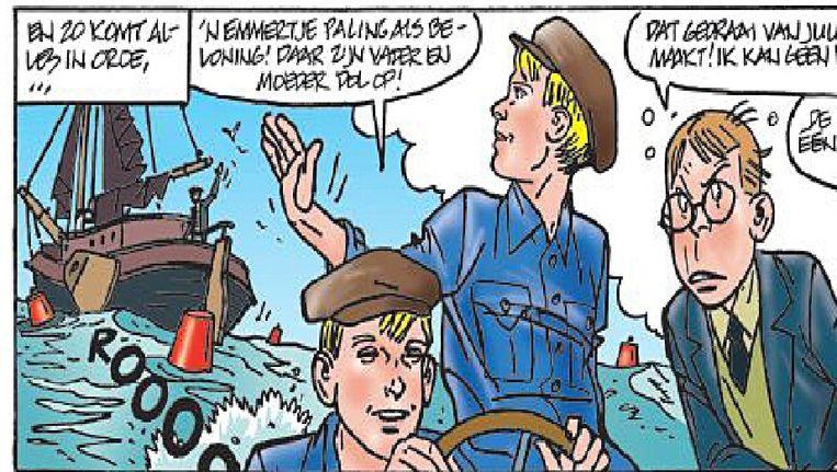 Stripboek van 'De schippers van de Kameleon'. Getekend door Dick Matena. Beeld de Volkskrant