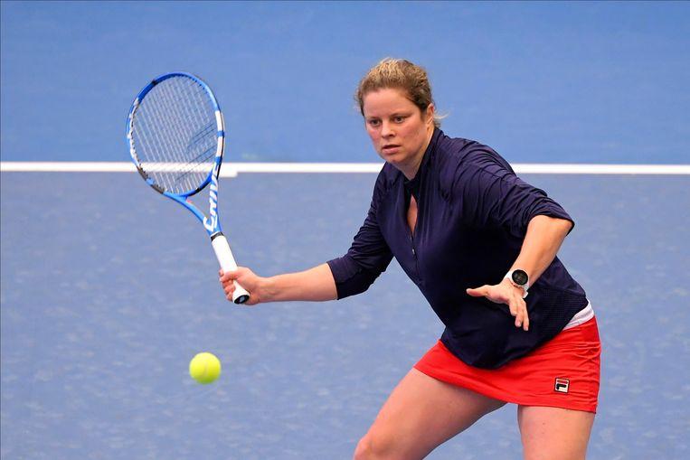 Clijsters fungeerde deze week als sparringpartner in de Fed Cup-ploeg die het van Kazachstan haalde.