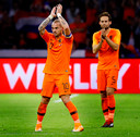 Wesley Sneijder verlaat voor het laatst het veld als speler van het Nederlans elftal.