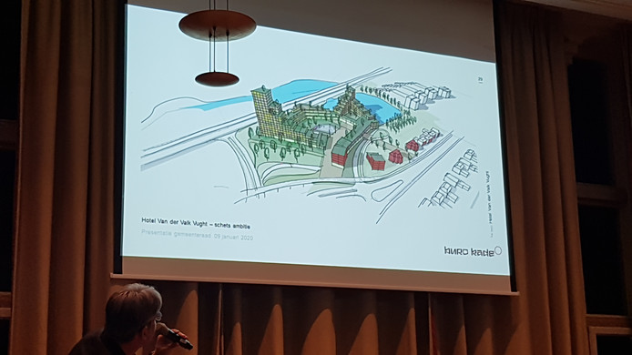 Het hotelcomplex 's-Hertogenbosch - Vught op tekening