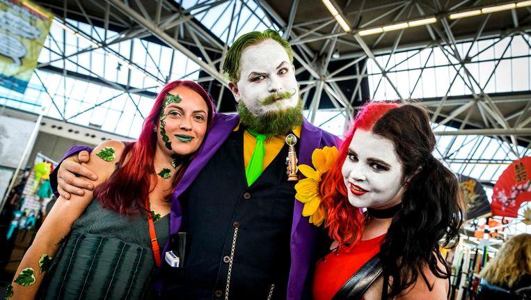 Bezoekers in vol ornaat tijdens Comic Con. Beeld anp