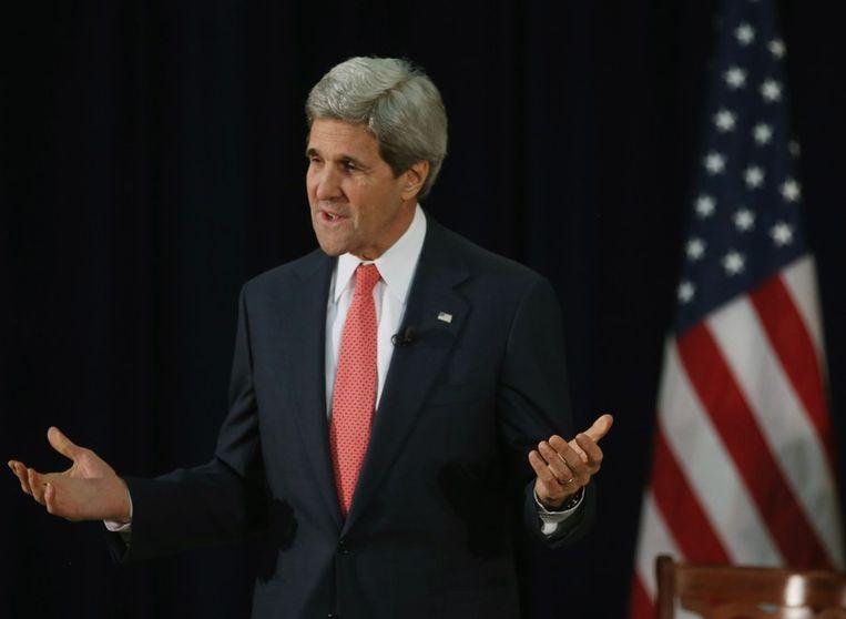 De Amerikaanse minister van Buitenlandse Zaken John Kerry, Beeld afp