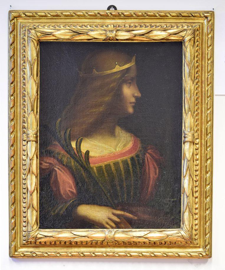 Het portret van Isabella d'Este vermoedelijk van de hand van Leonardo da Vinci.