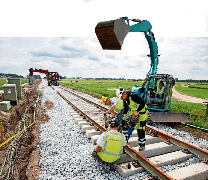 In opdracht van ProRail en de gemeente Zwolle wordt gewerkt aan de bouw van een onderdoorgang in Zwolle.