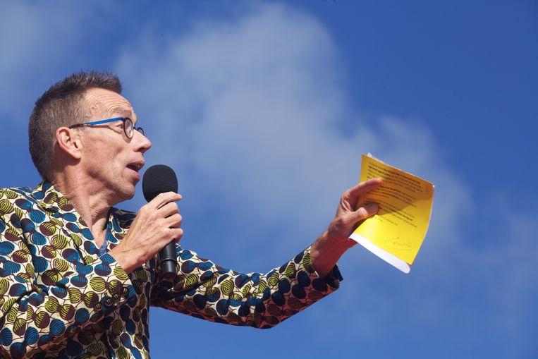 Ook kampioen snelspreken, cabaretier Dolf Jansen, schakelt voortdurend tussen snel en langzaam praten, afhankelijk van de situatie. Beeld Hollandse Hoogte